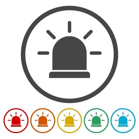 Siren icon for web and mobile, Alarm siren vector icon