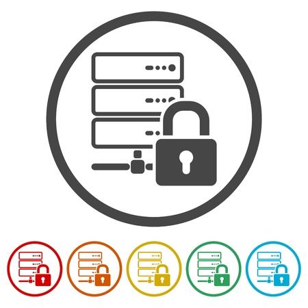 Lock Database symbol, Locked database Icon