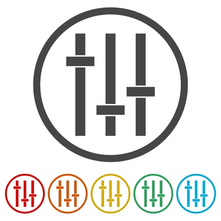 potentiometer: Sliders or faders control board, Fader icon Illustration