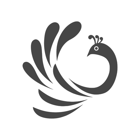 Stylized bird clip-art design illustration. Ilustração