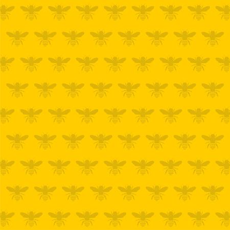 Bee pattern - vector Illustration