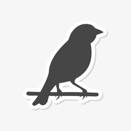 Birds icon - vector Illustration sticker