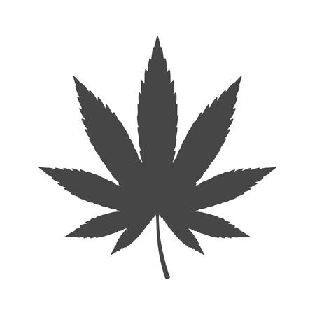 Marijuana Icon Flat Graphic Design - vector Illustration icon Illustration