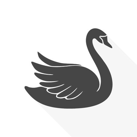 Swan Icon Graphic Design Print.