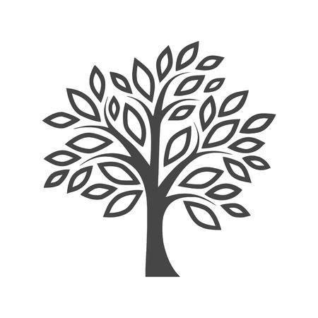 Simple tree icon design Illustration. Illustration
