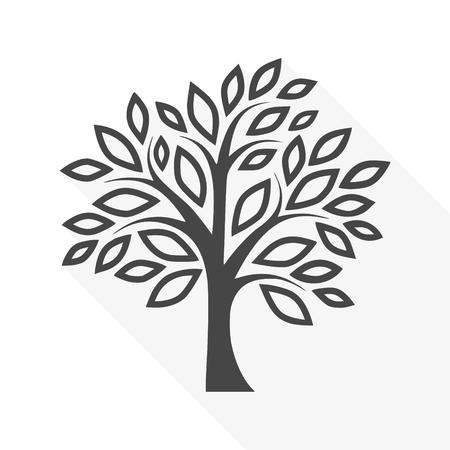 Simple tree - vector Illustration Stock Illustratie