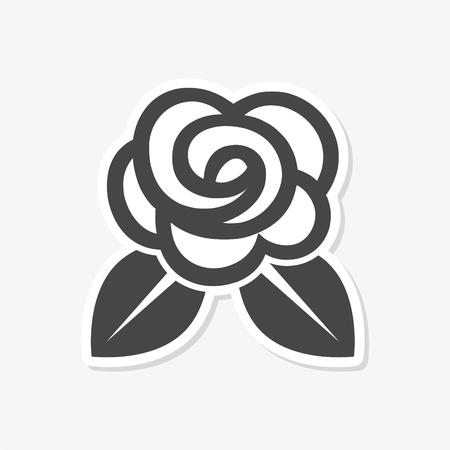Rose Icon Flat Graphic Design - Illustration sticker