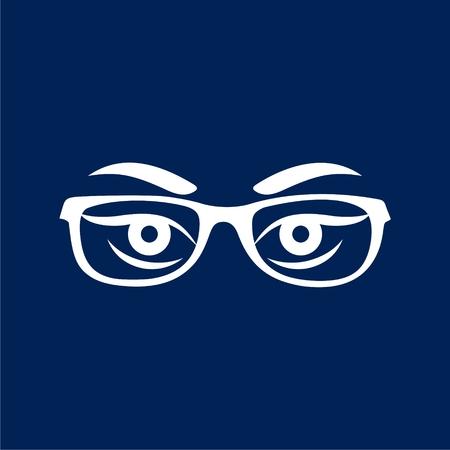 Les yeux de la femme avec des lunettes vecteur - Illustration Banque d'images - 88773688