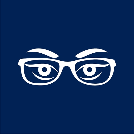 Womans eyes with glasses vector - Illustration