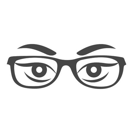 Les yeux de la femme avec des lunettes vecteur - Illustration Banque d'images - 88773752