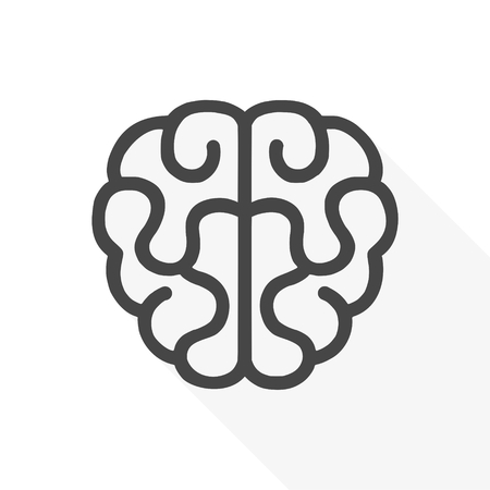 Human brain icon - vector Illustration Illustration