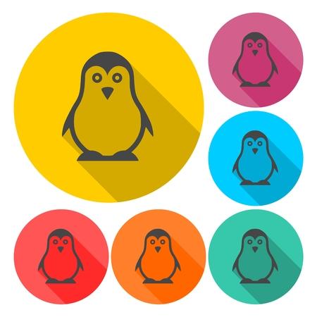 Penguin Icons - vector Illustration