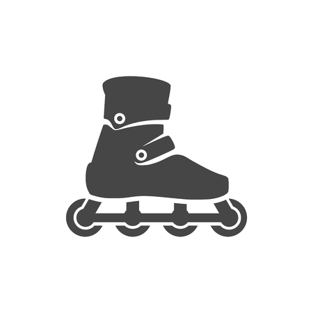 Roller Skates Icon Flat Graphic Design - vector Illustration