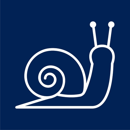 Stylized silhouette of a snail - vector Illustration
