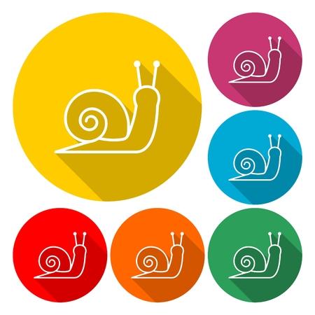 달팽이의 양식에 일치시키는 실루엣 - 벡터 일러스트 레이션