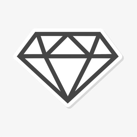 다이아몬드 아이콘 평면 그래픽 디자인 - 벡터 일러스트 레이션