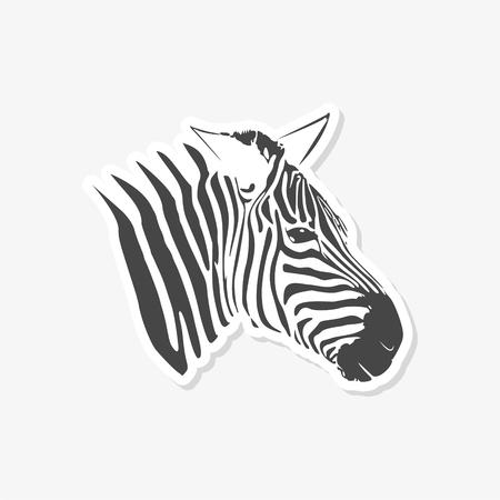 Zebra sticker - vector Illustration