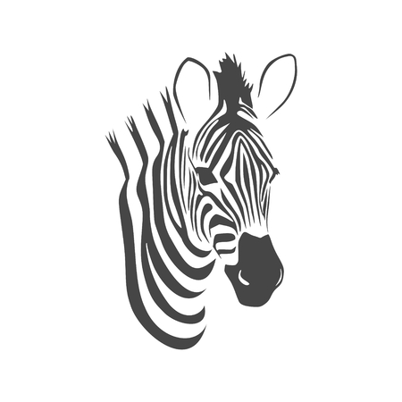 Zebra sticker flat graphic design, vector illustration. Ilustração