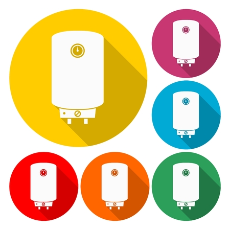 Boiler icon vector - Illustration