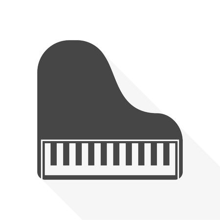 Piano Icon Flat Graphic Design Vector Illustration Royalty Free