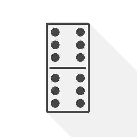 Domino's vector sticker illustratie