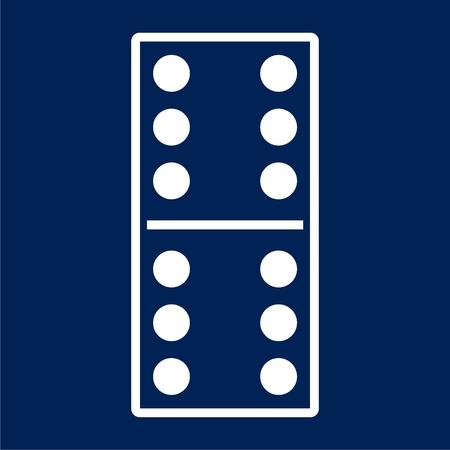 Dominoes vector icon illustration
