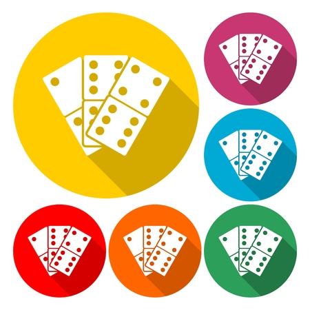 Domino's vector pictogram illustratie