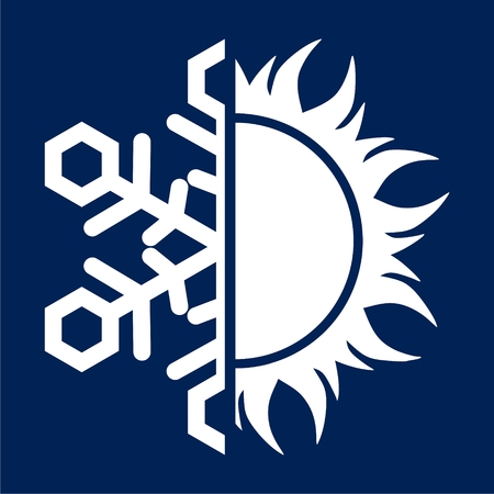 Sun and snowflake icon