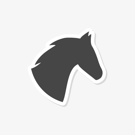 Vector illustration of horse head - Illustration