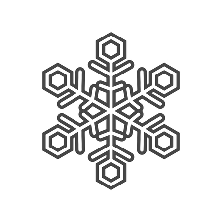 Abstract snowflakes icon - vector Illustration