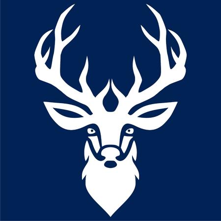 Deer head illustration vector icon