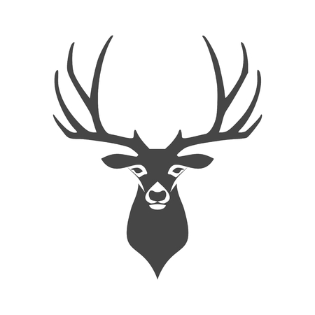 Deer head illustration vector icon
