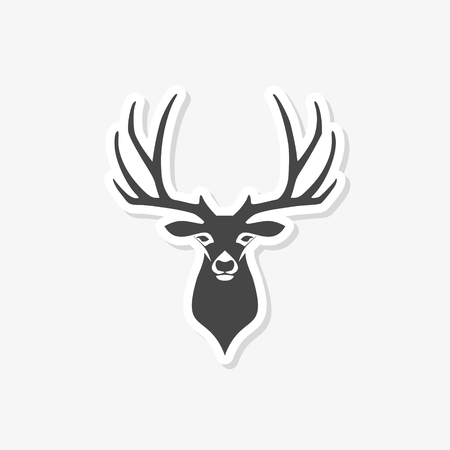 Deer head illustration Illustration