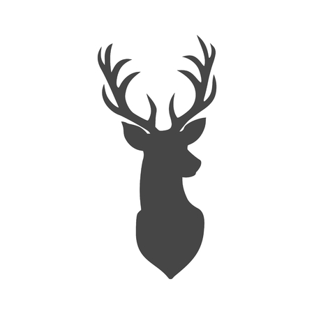 Deer head illustration Vettoriali