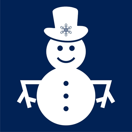 Snowman cowboy icon vector Illustration