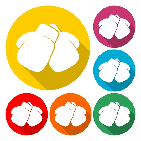 Boxing Gloves Icon Flat Graphic Design - vector Illustration