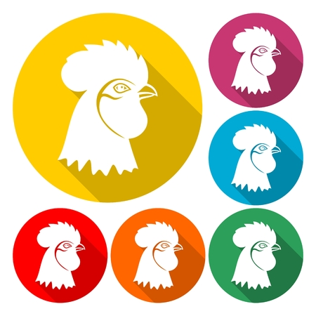 Rooster head vector concept