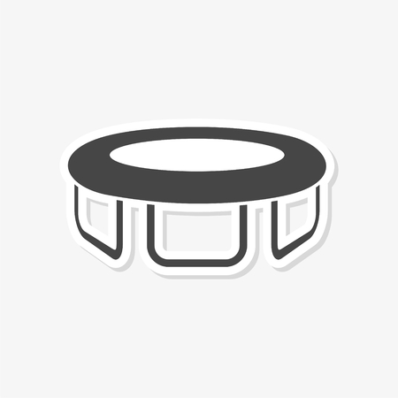 Trampoline icon without shadow flat design vector illustration