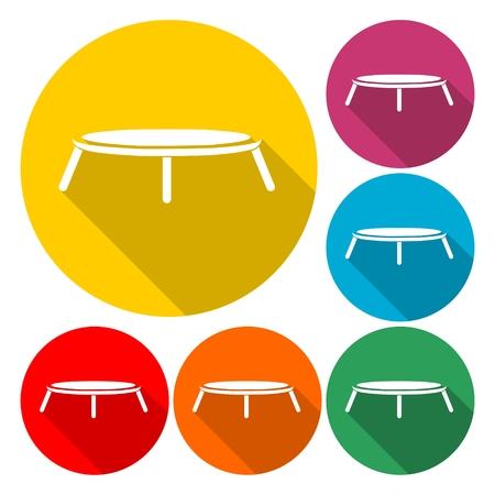 Trampoline jumping icon vector illustration flat design