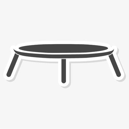 Trampoline jumping icon vector illustration