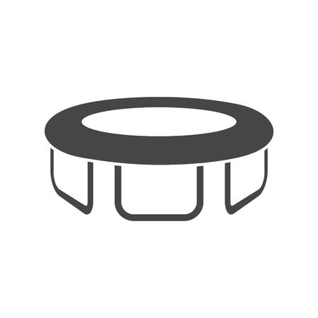 Trampoline icon flat design vector illustration