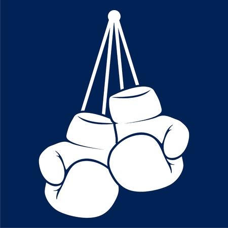 Boxing gloves icon flat draphic desig vector illustration
