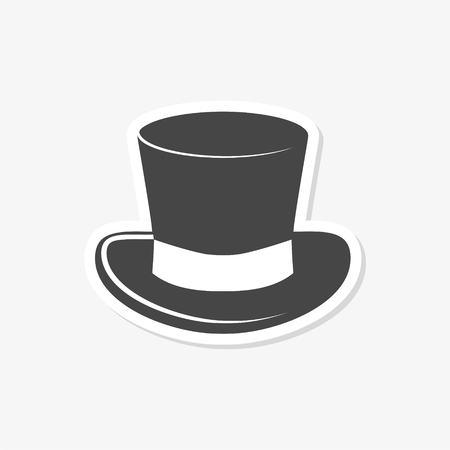 Top hat icon - vector Illustration