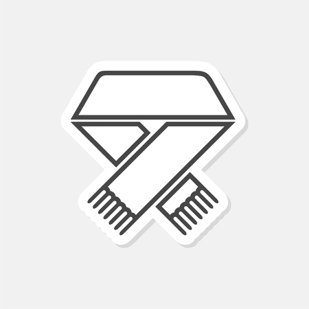 Scarf flat icon - Illustration