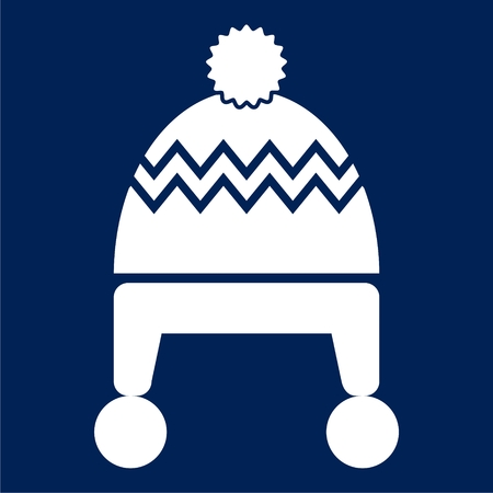 Winter snowboard cap icon - vector Illustration