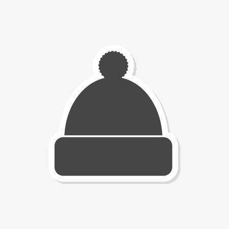 Winter snowboard cap icon - Illustration Vektoros illusztráció
