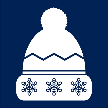 Winter snowboard cap icon - vector Illustration