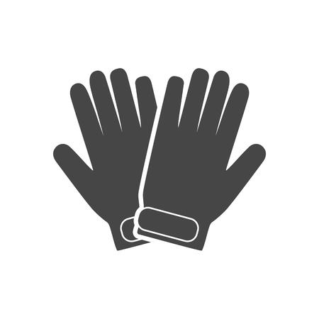 Winter Mittens icon, Gloves icon Illustration