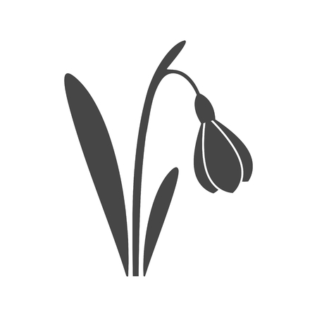 Snowdrop icon - Illustration
