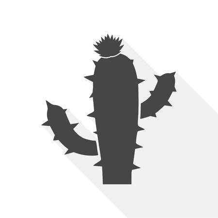 Cactus icon vector - Illustration